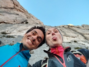 A funny couple at the crag